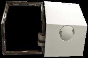 pantograph door with steel frame