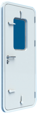 Bofor Flush Light Weathertight Clamping Door with Glass and individual dog handles