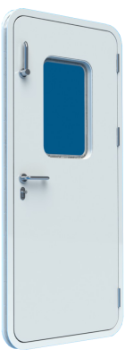Bofor Flush Light Weathertight Clamping Door with Glass and mechanism