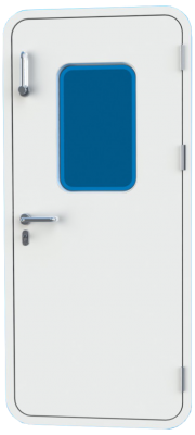 Bofor Flush Weathertight Marine Door with glass and mechanism  - D01mg